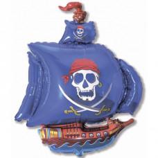 Фигура Пиратский корабль (синий)