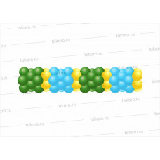 Гирлянда двухцветная 7