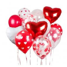 Фонтан из шаров Валентинов день